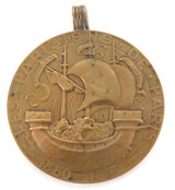 HUGE VINTAGE PARIS RELATED 1880 - 1930 COMMEMORATIVE BRONZE MEDAL / PENDANT.