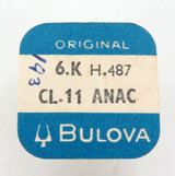 BULOVA CL. 11 ANAC 6.K H.487 WHEEL WATCH PART. SEALED IN PKT.