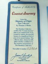 "MAJESTY OF FLIGHT BY T J HIRATA ""COASTAL JOURNEY"" COLLECTORS PLATE, BOX & COA."