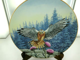 """MAJESTY OF FLIGHT BY T J HIRATA """"THE VANTAGE POINT"""" COLLECTORS PLATE, BOX & COA."""