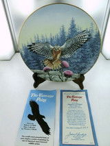 "MAJESTY OF FLIGHT BY T J HIRATA ""THE VANTAGE POINT"" COLLECTORS PLATE, BOX & COA."