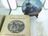 """THE BLUE COMET"" THE GOLDEN AGE OF AMERICAN RAILWAYS COLLECTORS PLATE, BOX & COA"
