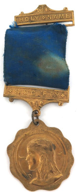 VINTAGE HNS HOLY NAME SOCIETY LARGE MEDAL
