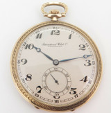 Vintage IWC Schaffhausen 14K Gold Pocket Watch cal 65 - Serviced