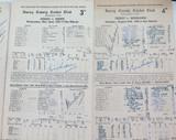 1950s ALEC & ERIC BEDSER. 5 SIGNED SURREY SCORECARDS.