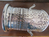 Beautiful Antique 1919 Walker & Hall Sheffield A1 EPNS Decorative Wine Holder