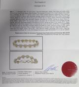 8.82cttw Yellow Pink & White Diamond Set 18k Multi Gold Bracelet Val $63130 GIA