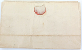 APRIL 1820 STAMPLESS FOLDING LETTER COVER USA, TRENTON NEW JERSEY.