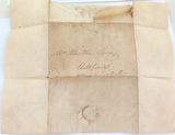 JUNE 1st 1823 STAMPLESS FOLDING LETTER COVER USA, MILLFORD, NEW JERSEY. M Lowrey