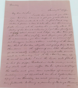 JANUARY 2nd 1837, 3 PAGE STAMPLESS FOLDING LETTER COVER PHILADELPHIA, USA