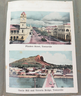 1940s MURRAY VIEWS COLOUR FOLDOUT SOUVENIR OF TOWNSVILLE