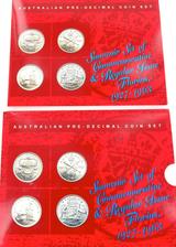 SHERWOOD SET 4 1927 - 1963 AUSTRALIA FLORINS. NICE GRADES / 1927 8 PEARLS