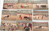 EARLY 1900s SPAIN SPANISH / SET 9 BULLFIGHTING POSTCARDS