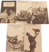 WW1 5 BRITISH MILITARY POSTCARDS. CARRIER PIGEONS, ANTI AIRCRAFT ETC.