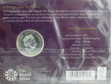 2015 ENGLISH 20 POUNDS .999 SILVER UNC COIN PACK. LONGEST REIGNING MONARCH QEII