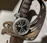 1940s WWII Hamilton Chronograph Model 23 16s 19 Jewel Pocket Watch