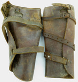 EARLY 1900s / cWW1 A.I.F. ? MOUNTED POLICE ? LEATHER SPATS / LEGGINGS.