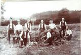 3 x EARLY 1900s RPPC REAL PHOTO POSTCARDS. POTATO FARMING. POSSIBLY NZ.