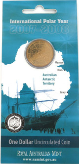 2007 - 2008 INTERNATIONAL POLAR YEAR $1 UNC COIN PACK / CARDED. FREE POST IN AUS