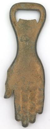 c1920s / 1930s BRISBANE SOUVENIR, LARGE HAND SHAPED BOTTLE OPENER.