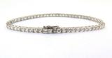 Pretty Sterling Silver & 3mm Cubic Zirconia Tennis Bracelet 19cm