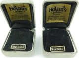 2 VINTAGE HOVANS JEWELLERS, SYDNEY 9CT GOLD EARRINGS DISPLAY BOXES.