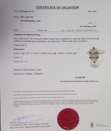Australian Sapphire & Diamond Set 14k Yellow Gold Cluster Ring Size K Val $2680