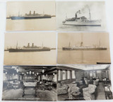 6 VINTAGE REAL PHOTO POSTCARDS RPPC. NAUTICAL / SHIPS.