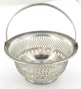 VINTAGE GORHAM A7315 STERLING SILVER SMALL PIERCED BEADED EDGE BASKET.