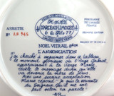 LIMOGES LIMITED EDITION COLLECTORS PLATE + COA + FOAM OUTER. NOEL 1982