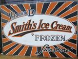 Large Vintage Smith's Ice Cream Heavy Porcelain Sign C.1930 106.5cm x 76cm