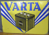 Vintage Varta Car Battery Sign Circa 1960s