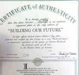 EDWIN KNOWLES LIMITED EDITION COLLECTORS PLATE + BOX + COA. BUILDING OUR FUTURE