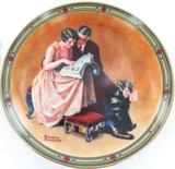 """EDWIN KNOWLES LIMITED EDITION COLLECTORS PLATE + BOX + COA. """"COUPLES COMMITMENT"""""""