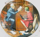 """EDWIN KNOWLES LIMITED EDITION COLLECTORS PLATE + BOX + COA. """"THE PROFESSOR"""""""