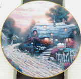 EDWIN KNOWLES LIMITED EDITION COLLECTORS PLATE + BOX. OLDE PORTERFIELD TEA ROOM