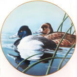 """W GEORGE LIMITED EDITION DUCKS COLLECTORS PLATE + BOX + COA. """"THE LESSER SCAUP"""""""