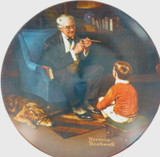 """EDWIN KNOWLES LIMITED EDITION COLLECTORS PLATE + BOX + COA. """"THE TYCOON""""."""