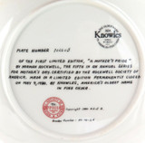 EDWIN KNOWLES LIMITED EDITION COLLECTORS PLATE + BOX + COA. MOTHERS DAY 1980