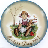 SCHMID GERMANY BERTA HUMMEL L/ED COLLECTORS PLATE + OUTER + COA MOTHERS DAY 1984