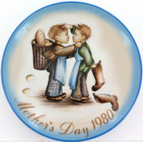 SCHMID GERMANY BERTA HUMMEL L/ED COLLECTORS PLATE + OUTER. MOTHERS DAY 1980.