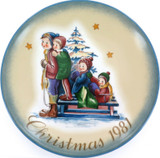 SCHMID GERMANY BERTA HUMMEL L/ED COLLECTORS PLATE + OUTER + COA. CHRISTMAS 1981