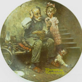 """KNOWLES LIMITED EDITION COLLECTORS PLATE + OUTER + COA. """"THE COBBLER"""""""