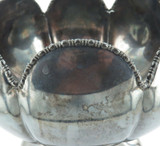 ANTIQUE E G WEBSTER, USA LARGE LOTUS FLOWER STYLE SILVERPLATE FRUIT BOWL.