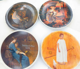 4 x 1970s NORMAN ROCKWELL KNOWLES L/ED COLLECTORS PLATES. NO BOXES OR COA'S
