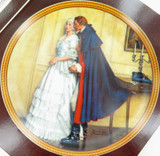 KNOWLES ROCKWELL COLONIALS COLLECTORS PLATE + BOX + COA. THE UNEXPECTED PROPOSAL
