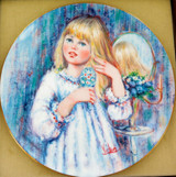 """1979 WEDGWOOD MARY VICKERS L/ED COLLECTORS PLATE + OUTER. """"DAY DREAM"""""""