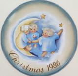 SCHMID GERMANY BERTA HUMMEL L/ED COLLECTORS PLATE + OUTER + COA. CHRISTMAS 1986