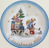 SCHMID GERMANY BERTA HUMMEL L/ED COLLECTORS PLATE + OUTER. CHRISTMAS 1980.