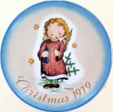 SCHMID GERMANY BERTA HUMMEL L/ED COLLECTORS PLATE + OUTER. CHRISTMAS 1979
